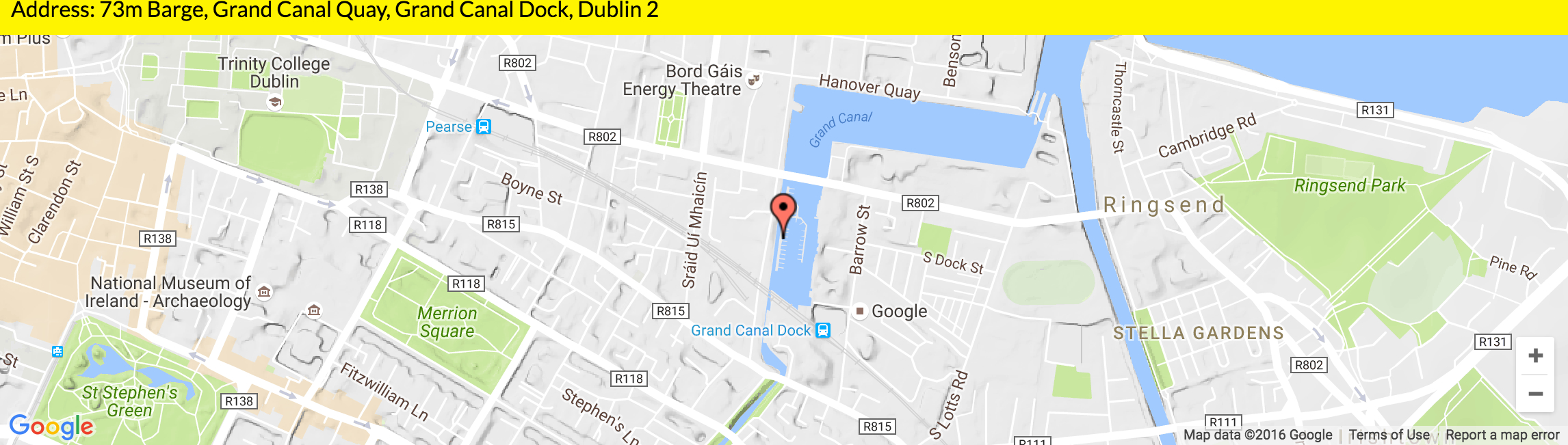 on board and nearby 73m barge grand canal dock dublin 2